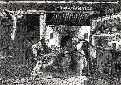 Баня в крестьянской семье