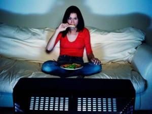 Телевизор и еда